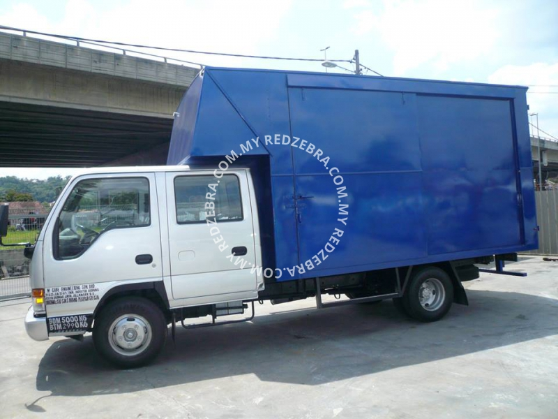 Isuzu NPR Double Cab Luton Box