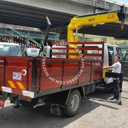 Isuzu NPR truck mounted crane  With Wooden Cargo 5000Kg-7500kg