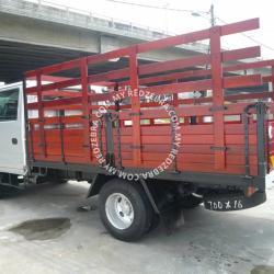 Isuzu NPR70 Double Cabin Wooden Cargo