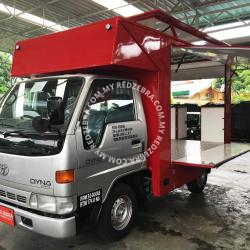 Toyota - Red food truck
