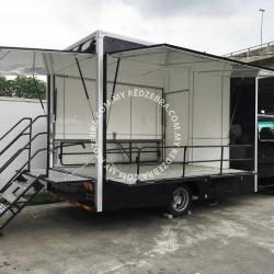 Food Truck Black Colour - Isuzu Lorry